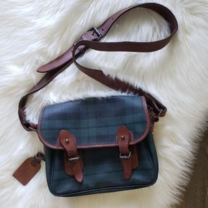 B2G1 VTG Rare Ralph Lauren Plaid Crossbody Purse
